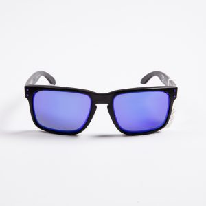 Oakley Holbrook Matte Black Prizm Violet Sunglasses (9102-K6)
