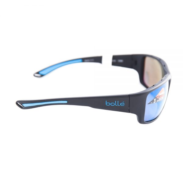 Bolle Kayman Polarised Matte Black Blue Offshore Mirror (12368)