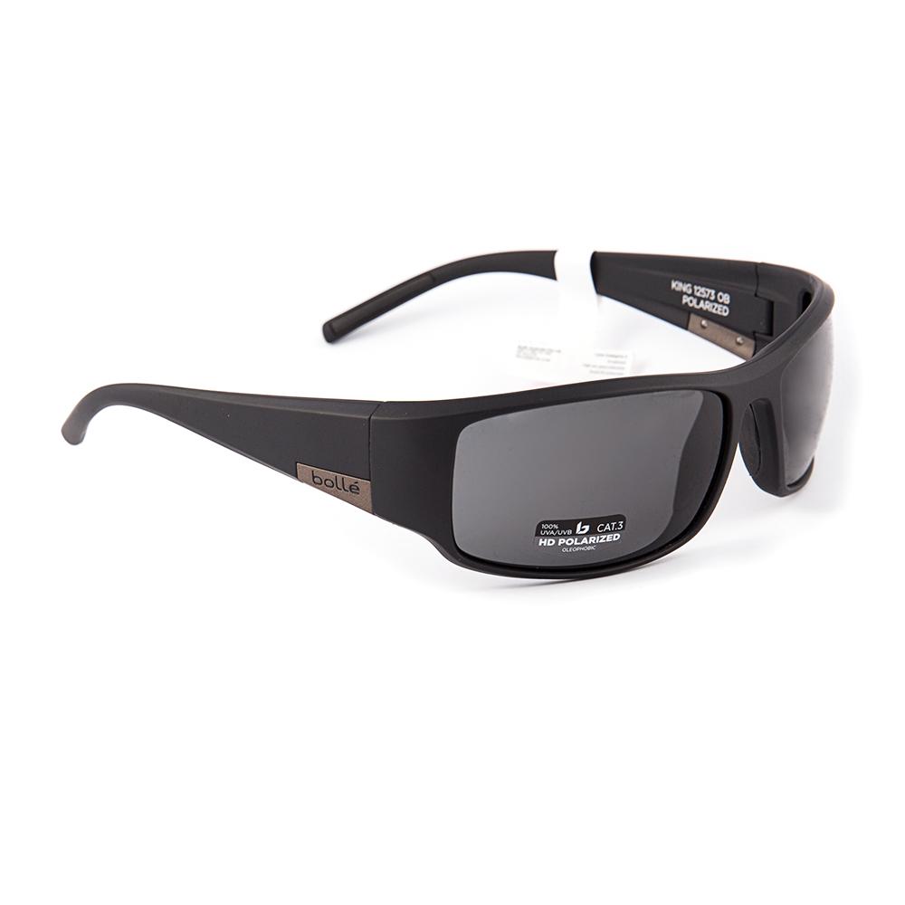 New Bolle King Polarised Matte Black Grey Sunglasses 12573