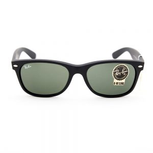 Ray Ban 2132 New Classic Wayfarer Black Rubber Crystal Green (2132 622)