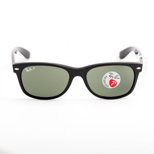 Ray Ban 2132 New Wayfarer Polarised Gloss Black Crystal Green (2132 901/58)