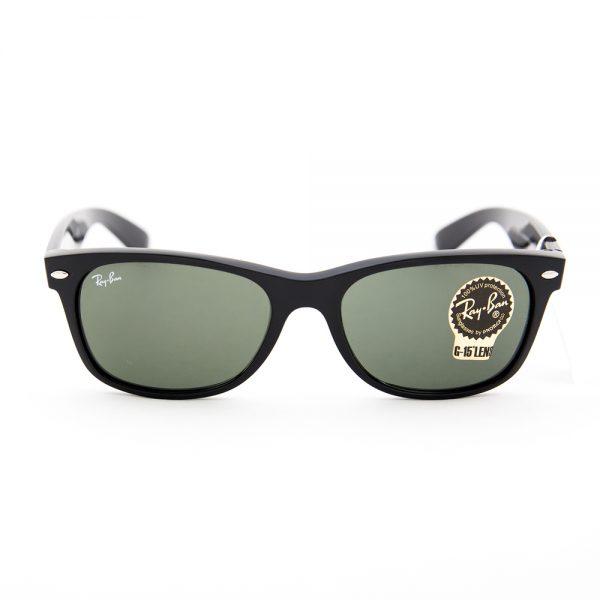 Ray Ban 2132 New Classic Wayfarer Shiny Black Crystal Green (2132 901L)
