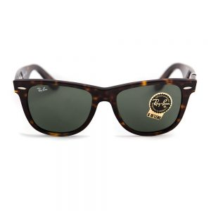 Ray Ban 2140 Original Wayfarer Gloss Tortoiseshell Crystal Green G15 Glass 50 (2140 902)
