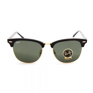 Ray Ban 3016F Clubmaster Ebony Arista Crystal Green 55 (3016F W0365)
