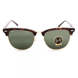 Ray Ban 3016F Clubmaster Mock Tortoise Arista Crystal Green 55 (3016F W0366)