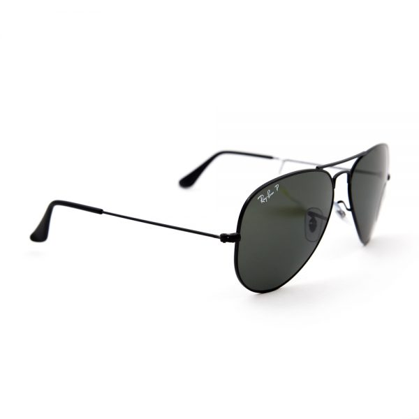 Ray Ban 3025 Aviator Polarised Black Crystal Green (3025 002/58)