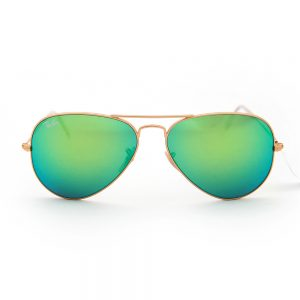 Ray Ban 3025 Aviator Matte Gold Green Crystal Mirror (3025 112/19)