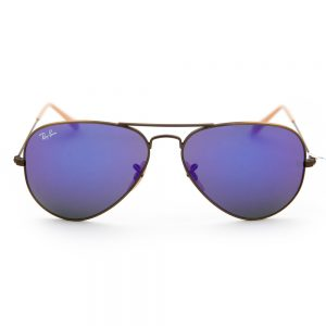 Ray Ban 3025 Aviator Brushed Bronze Purple Crystal Mirror (3025 167/1M)