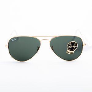 Ray Ban 3025 Aviator Gold Green Glass (3025-L0205)