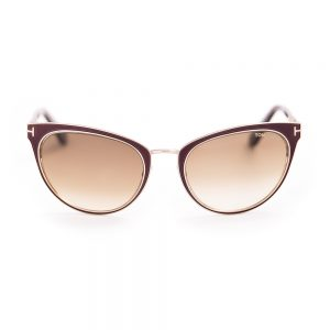 Tom Ford 373 Nina Matte Gold Deep Purple Brown Gradient Lens (373/S 48F)