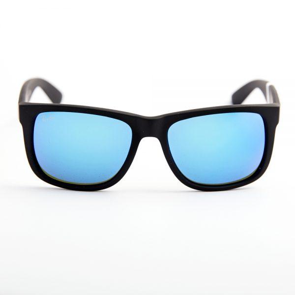 Ray Ban 4165 Justin Black Rubber Green Mirror Blue (4165 622/55)
