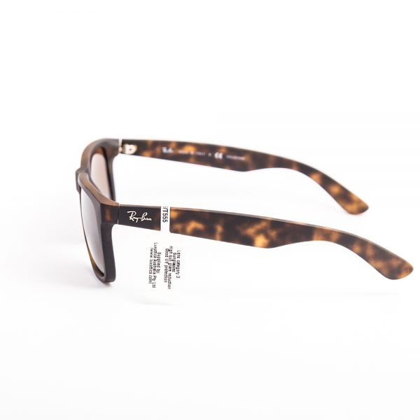 Ray Ban 4165 Justin Polarised Havana Rubber Brown Gradient (4165 865/T5)