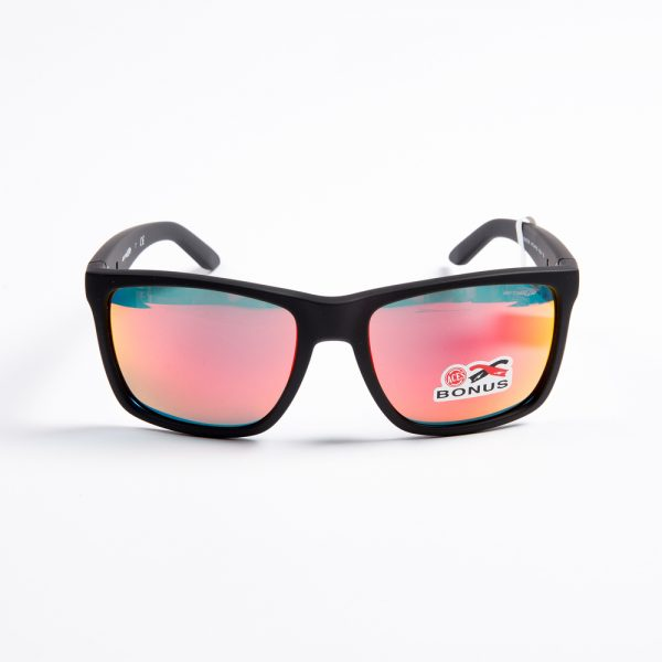 Arnette Witch Doctor Fuzzy Black Neon Red Mirror (4177-01)