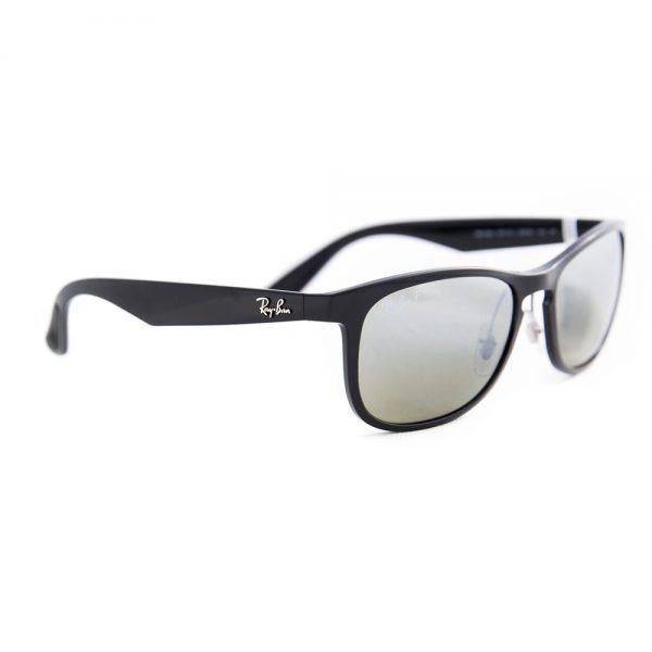 Ray Ban 4263 Polarised Shiny Black Grey Mirror Silver (4263 601/5J)