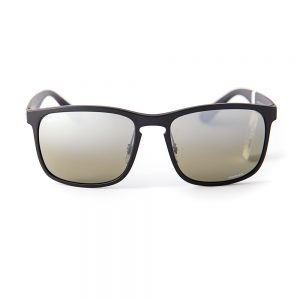 Ray Ban 4264 Polarised Matte Black Grey Gradient Silver Mirror (4264 601/S5J)