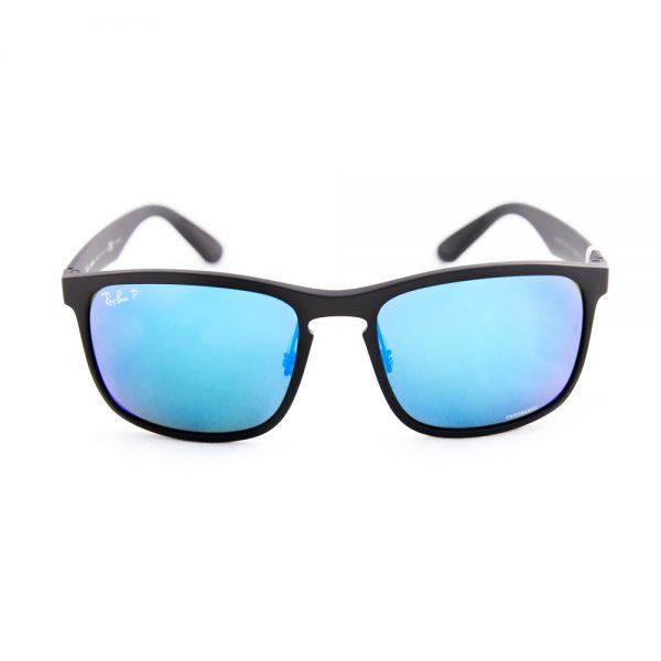 Ray Ban 4264 Polarised Matte Black Blue Flash (4264 601/SA1)
