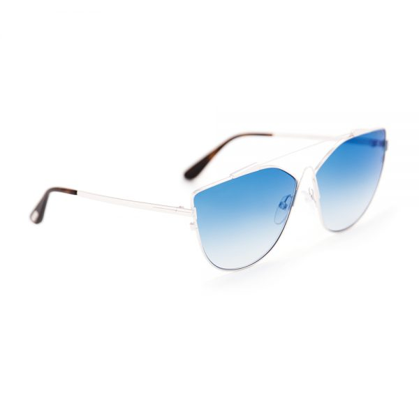 Tom Ford 563 Jacquelyn Silver Graduated Blue Mirror (563 18X)