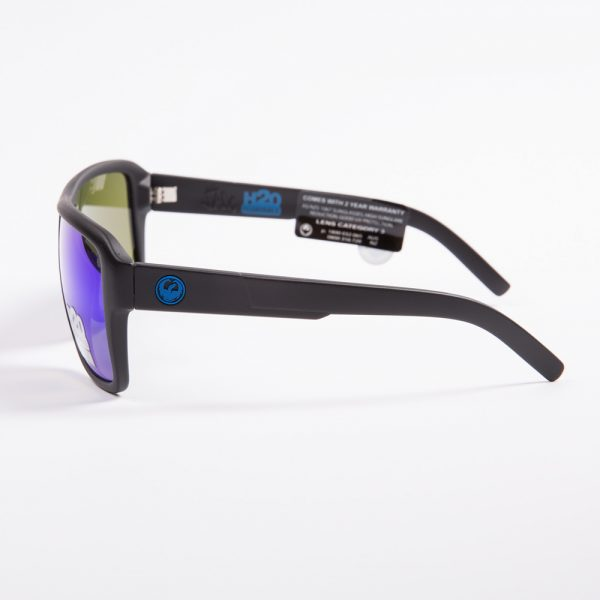 Dragon The Jam Polarised Matte Black H20 Blue Ionised (720-2268)