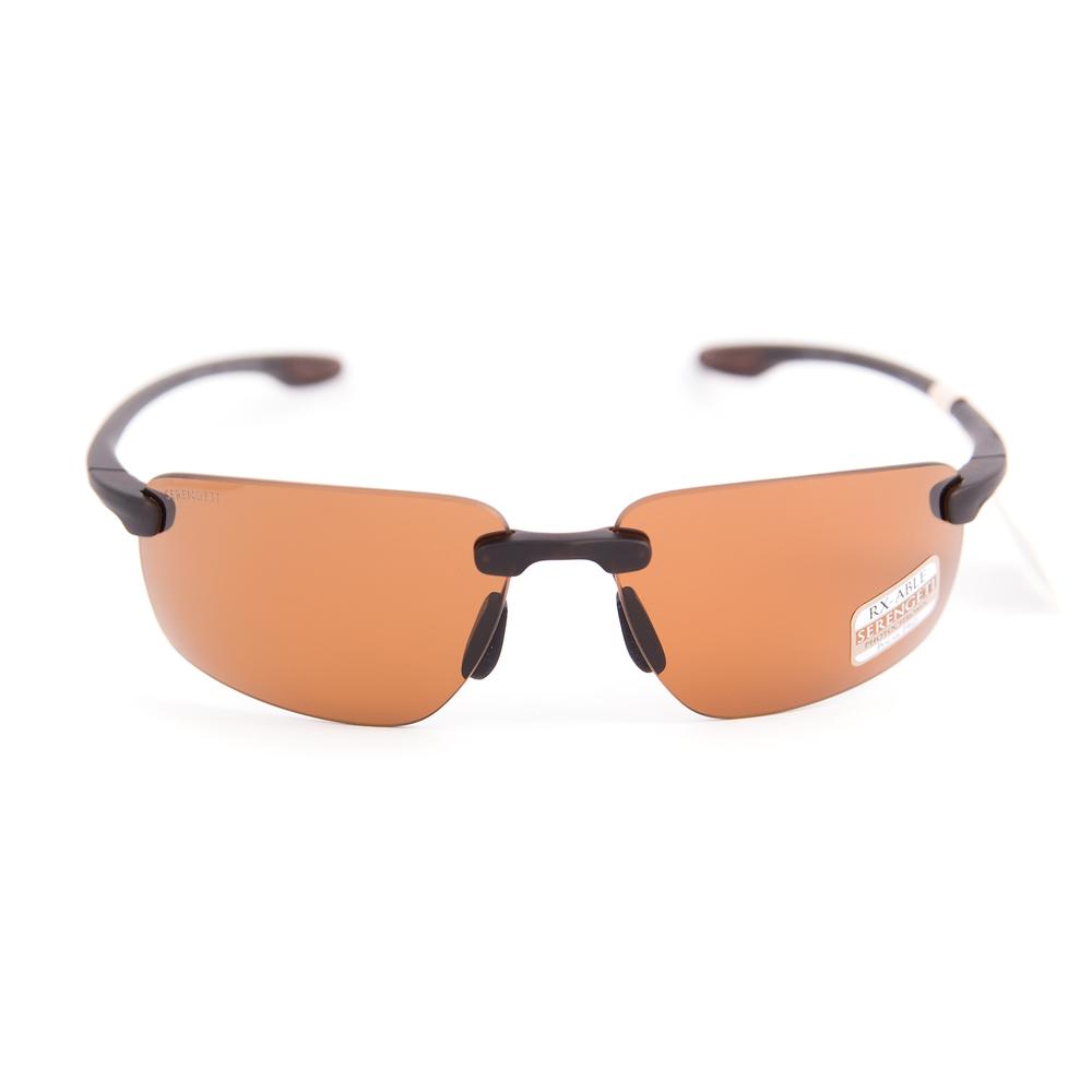 Serengeti Eyewear Sunglasses Linosa Sanded Dark Brown Polarized PhD Drivers Lens
