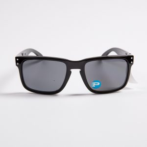 Oakley Holbrook Polarised Polished Black/Grey Sunglasses (9102-02)
