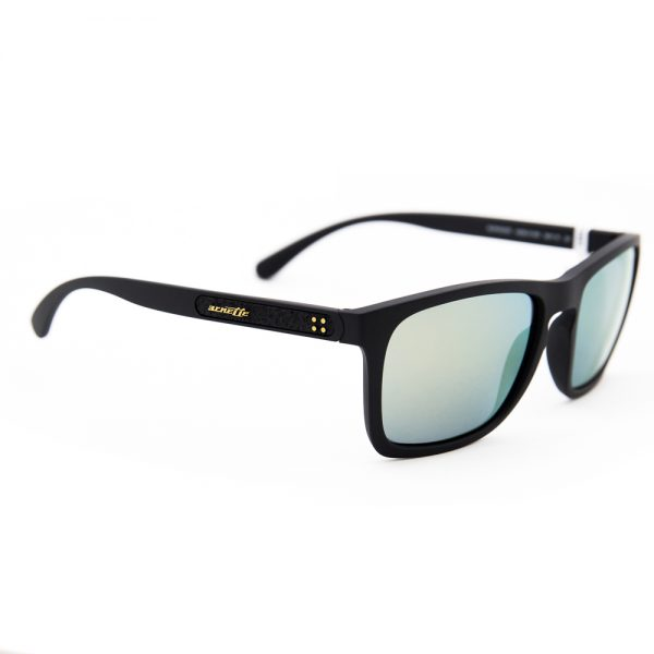 Arnette Burnside Matte Black Green Gold Mirror (AN4236 01/8N)